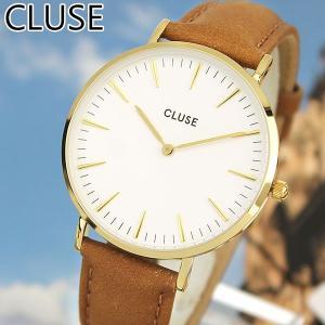 CLUSE クルース La Boheme ラ・ボエーム CL18409 海外モデル アナログ レディース 腕時計 ウォッチ 38mm 茶 キャメル 革バンド レザー カジュアル tokeiten