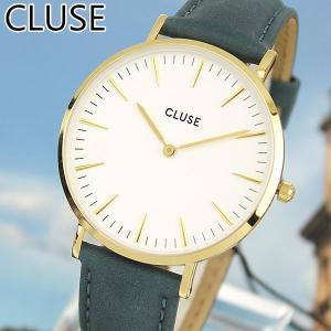 CLUSE クルース La Boheme ラ・ボエーム CL18416 海外モデル アナログ レディース 腕時計 ウォッチ 38mm 青 ネイビー 革バンド レザー カジュアル|tokeiten