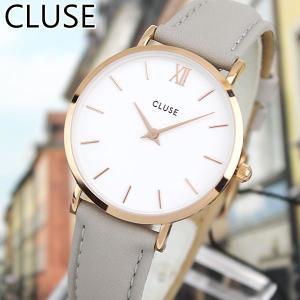 CLUSE クルース MINUIT ミニュイ CL30002 海外モデル アナログ レディース 腕時計 ウォッチ 33mm グレー 革バンド レザー カジュアル|tokeiten
