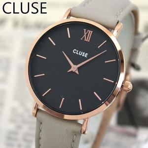 CLUSE クルース CL30018 海外モデル La Boheme ラ・ボエーム アナログ レディース 腕時計 ウォッチ 黒 ブラック グレー 革バンド レザー|tokeiten