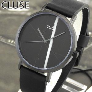 CLUSE クルース CL40001 38mm 海外モデル La Roche ラ・ロシュ アナログ レディース 腕時計 ウォッチ 黒 ブラック 革バンド レザー tokeiten