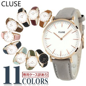 CLUSE クルース La Boheme ラ・ボエーム 海外モデル 38mm レディース 腕時計 白 ホワイト 金 ピンクゴールド 革バンド レザー|tokeiten