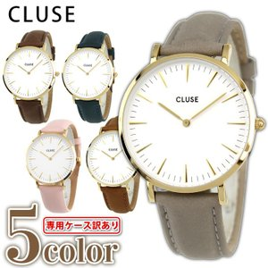 CLUSE クルース La Boheme ラ・ボエーム 38mm CL18410 CL18414 CL18414 CL18408 CL18416 レディース 腕時計 白 ホワイト 金 ゴールド 革バンド レザー tokeiten