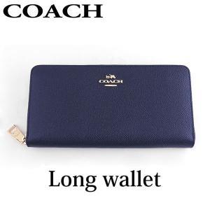 ポイント最大27倍 COACH コーチ 52372-LIBHP 海外モデル レディース 財布 レザー ネイビー 紺 長財布 ウォレット ラウンドファスナー|tokeiten