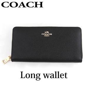 COACH コーチ 52372-LIBLK 海外モデル レディース 財布 レザー ブラック 長財布 ラウンドファスナー|tokeiten
