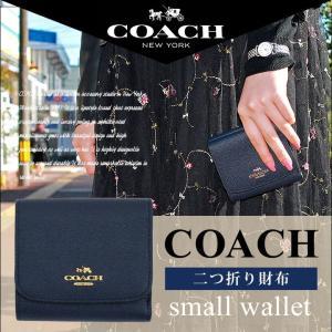 COACH コーチ 53716 LINAV レディース 財布 二つ折り ウォレット 本革 ネイビー 紺 ブランド 海外モデル 女性 ギフト プレゼント tokeiten