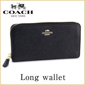 COACH コーチ 57713 LIBLK アコーディオン 海外モデル レディース 長財布 ウォレット ラウンドファスナー レザー 黒 ブラック 金 ゴールド|tokeiten