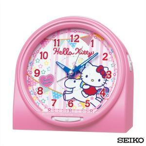 先着8%OFFクーポン SEIKO セイコークロック  キャラクター ハローキティ CQ134P 国内正規品 目覚まし時計 ピンク 子供 かわいい tokeiten