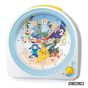 SEIKO セイコークロック  キャラクター ポケットモンスター サン&ムーン CQ149W 国内正規品 キッズ 子供用 目覚まし 目覚し めざまし 置時計|tokeiten