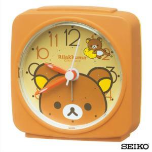 先着8%OFFクーポン SEIKO セイコークロック  キャラクター リラックマ CQ153B 国内正規品 目ざまし時計 オレンジ 子供 かわいい tokeiten