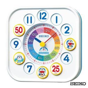 自由に付け替えできるプレートで楽しく学べる 知育時計 SEIKO セイコークロック  キャラクター ドラえもん  CQ319W 国内正規品 キッズ 子供用  掛置兼用|tokeiten