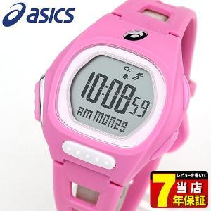 ポイント最大27倍 asics アシックス CQAR1006 国内正規品 デジタル メンズ レディース 腕時計 ピンク ランニング スポーツ ポリウレタン バンド|tokeiten