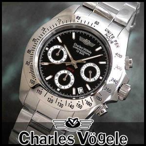 シャルルホーゲル CV-7873-3 CV7873-3 クロノグラフつきメンズ腕時計 メタルバンド 時計|tokeiten