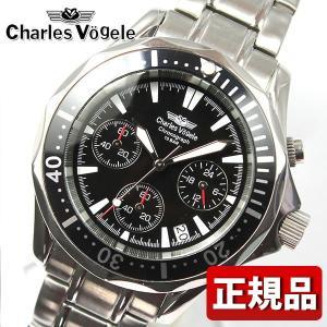 Charles Vogele シャルルホーゲル CV-7995-3 CV7995-3 メンズ 腕時計 新品 時計 ブラック 黒|tokeiten