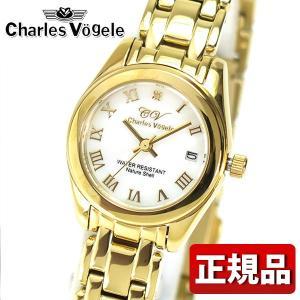 Charles Vogele シャルルホーゲル メタル アナログ レディース 腕時計 ゴールド CV-9002-2 海外モデル|tokeiten