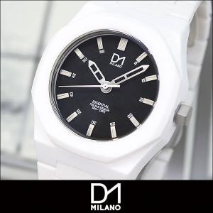 D1 MILANO ディーワンミラノ ES-03N 海外モデル ESSENTIAL エッセンシャル メンズ 腕時計 黒 ブラック 白 ホワイト|tokeiten