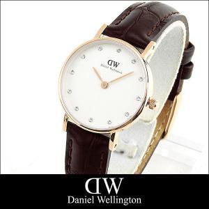 ポイント10倍レビュー2年保証 ダニエルウェリントン クラッシー Daniel Wellington 26mm レディース 腕時計 革ベルト ピンクゴールド クロコ 0902DW 並行|tokeiten