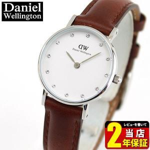 Daniel Wellington ダニエルウェリントン 26mm DANIEL-0920DW 海外モデル アナログ レディース ペア 腕時計 ウォッチ 白 ホワイト 茶 ブラウン 革ベルト レザー|tokeiten