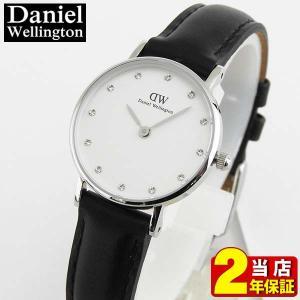 レビュー2年保証 ダニエルウェリントン クラッシー Daniel Wellington 26mm レディース 腕時計 革ベルト シルバー ペア 0921DW 並行輸入品|tokeiten