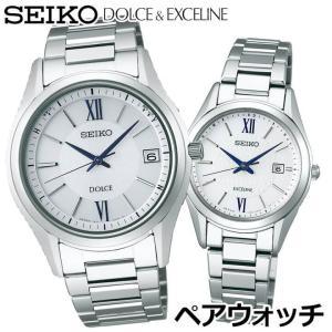 ドルチェ&エクセリーヌ SEIKO セイコー SADZ185 SWCW145 電波ソーラー メンズ レディース 腕時計 国内正規品 チタン メタル|tokeiten