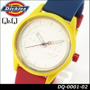 Dickies ディッキーズ Q&Q ソーラー スマイルソーラー アナログ 正規品 DQ-0001-02 ブルー レッド イエロー カラフル tokeiten
