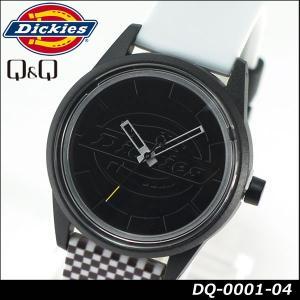 Dickies ディッキーズ Q&Q ソーラー スマイルソーラー アナログ 正規品 DQ-0001-04 ブラック ホワイト 白 黒 モノクロ tokeiten
