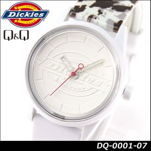 Dickies ディッキーズ Q&Q ソーラー スマイルソーラー アナログ 正規品 DQ-0001-07 ホワイト 白 カモフラ柄 tokeiten
