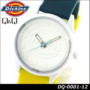 Dickies ディッキーズ Q&Q ソーラー スマイルソーラー アナログ 正規品 DQ-0001-12 ホワイト イエロー ダークグリーン 白 黄色 緑系 tokeiten