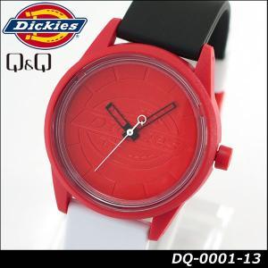 Dickies ディッキーズ Q&Q ソーラー スマイルソーラー アナログ 正規品 DQ-0001-13 ホワイト ブラック レッド 白 黒 赤 tokeiten