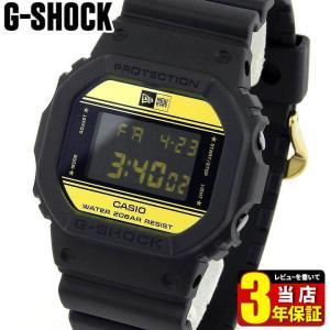 G-SHOCK Gショック CASIO カシオ DW-5600NE-1 35周年 限定モデル ニューエラ コラボモデル デジタル メンズ 腕時計 海外モデル 黒 ブラック 金 ゴールド|tokeiten
