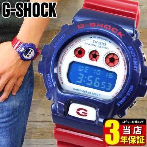G-SHOCK BASIC カシオ Gショック ジーショック 人気 ランキング 腕時計 赤 白 メンズ CASIO 時計 DW-6900AC-2 海外モデル 逆輸入|tokeiten
