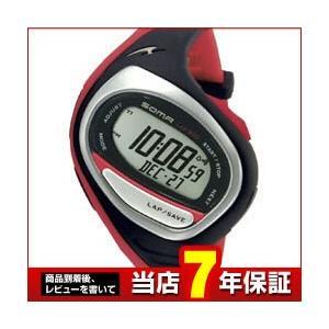 ポイント最大32倍  ランニング 腕時計 ランニングウォッチ ソーマ スポーツ DWJ02-0004 ブラック/レッド|tokeiten