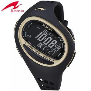 25日から最大35倍  SOMA ソーマ ランワン 100SL DWJ08-0001 ブラック LARGE ラージサイズ ジョギング ウォーキング マラソン ラップ 腕時計 ランニングウォッチ|tokeiten