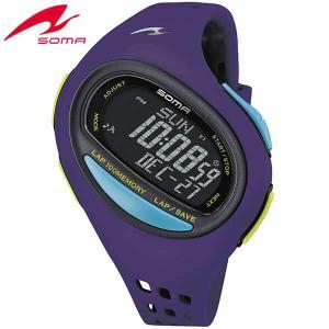 ポイント最大27倍 SEIKO セイコー SOMA ソーマ DWJ08-0003 国内正規品 RunONE ランワン デジタル メンズ レディース 腕時計 バイオレット ウレタン|tokeiten