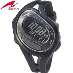 ポイント最大27倍 SEIKO セイコー SOMA ソーマ DWJ23-0001 国内正規品 RunONE ランワン デジタル メンズ レディース 腕時計 黒 ブラック ウレタン|tokeiten