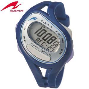 ポイント最大27倍 SEIKO セイコー SOMA ソーマ DWJ23-0004 国内正規品 RunONE ランワン デジタル メンズ レディース 腕時計 ブルー シルバー ウレタン|tokeiten