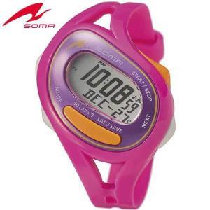 ポイント最大27倍 SEIKO セイコー SOMA ソーマ DWJ23-0006 国内正規品 RunONE ランワン デジタル メンズ レディース 腕時計 ピンク オレンジ ウレタン|tokeiten