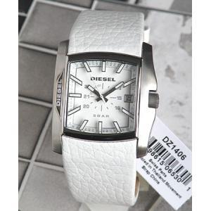 ディーゼル 時計 腕時計 DIESEL 革ベルト メンズ DZ1406 ホワイト 白 メンズ ディーゼル/DIESEL tokeiten