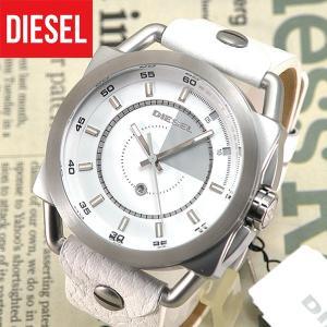 ディーゼル 時計 腕時計 DIESEL 革ベルト レザー メンズ DZ1577 ホワイト 白 シルバー|tokeiten