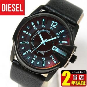 DIESEL ディーゼル MASTER CHIEF マスターチーフ アナログ レザー カジュアル ブラック 黒 メンズ 腕時計 時計 海外モデル|tokeiten