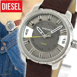 ディーゼル 時計 腕時計 DIESEL DZ1724 海外モデル ストロングホールド アナログ メンズ ウォッチ 茶 ブラウン グレー 革バンド レザー tokeiten