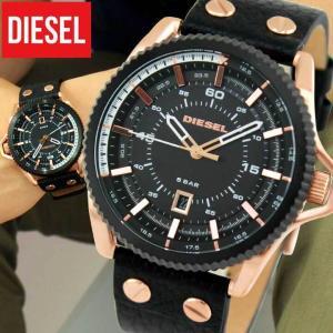 ディーゼル 時計 腕時計 DIESEL DZ1754 海外モデル ROLLCAGE ロールケージ アナログ メンズ ウォッチ 黒 ブラック ピンクゴールド 革バンド レザー tokeiten