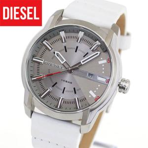 DIESEL ディーゼル ARMBER アームバー アナログ メンズ 腕時計 白 ホワイト  革ベルト レザー カジュアル DZ1811 海外モデル|tokeiten