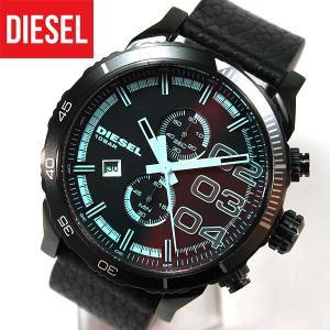 ディーゼル 時計 腕時計 DIESEL ディーゼルFRANCHISE フランチャイズ DZ4311 アナログ メンズ 新品 カジュアル ブルーガラス ブラック 黒 レザー tokeiten