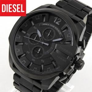 ポイント10倍 DIESEL ディーゼル クロノグラフ DZ4355 海外モデル MEGA CHIEF メガチーフ メンズ 腕時計 黒 ブラック
