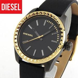 ディーゼル 時計 腕時計 DIESEL DZ5408 クレイ クレイ アナログ レディース 黒 ブラック 金 ゴールド 革バンド レザー|tokeiten