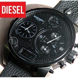 ディーゼル 時計 腕時計 DIESEL 革ベルト メンズ DZ7193 ブラック アナデジ メンズ クロノグラフ DIESEL tokeiten