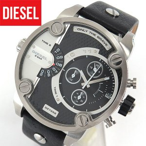 ディーゼル 時計 腕時計 DIESEL LITTLE DADDY リトルダディ DZ7256 海外モデル メンズ カジュアル レザー ブラック 黒 シルバー tokeiten
