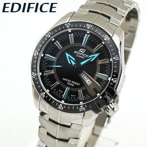 EDIFICE エディフィス CASIO カシオ EF-130D-1A2V アナログ メンズ 腕時計 海外モデル 黒 ブラック 青 ブルー メタル|tokeiten