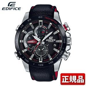 EDIFICE エディフィス CASIO カシオ タフソーラー カレンダー EQB-800BL-1AJF アナログ メンズ 腕時計 国内正規品 黒 ブラック 銀 シルバー 革ベルト レザー|tokeiten